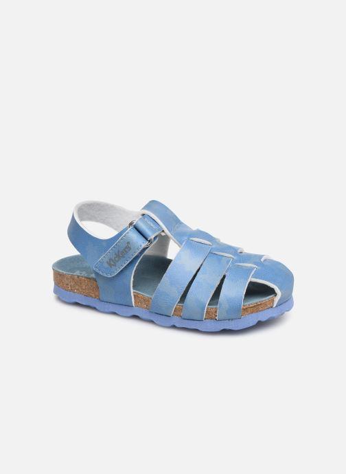 Sandales et nu-pieds Kickers Summertan Bleu vue détail/paire