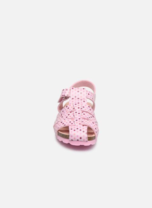 Sandales et nu-pieds Kickers Summertan Rose vue portées chaussures