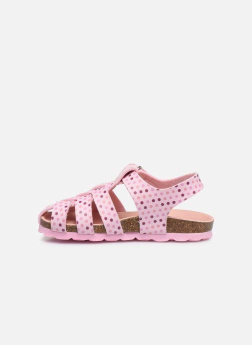 Sandales et nu-pieds Kickers Summertan Rose vue face
