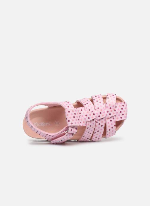 Sandales et nu-pieds Kickers Summertan Rose vue gauche