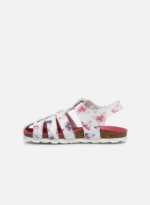Sandalen Kickers Summertan weiß ansicht von vorne