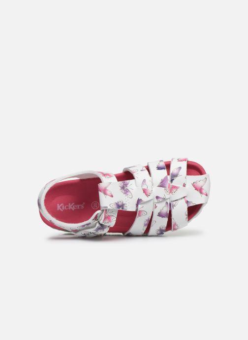 Sandales et nu-pieds Kickers Summertan Blanc vue gauche