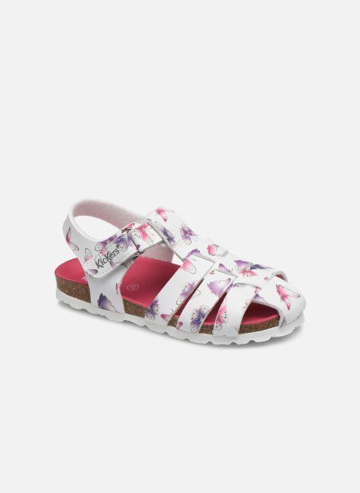 Sandalen Kickers Summertan weiß detaillierte ansicht/modell