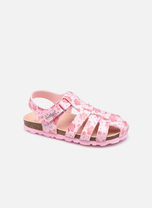 Sandales et nu-pieds Kickers Summertan Rose vue détail/paire
