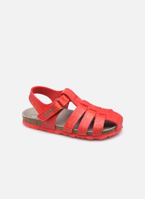 Sandalen Kickers Summertan rot detaillierte ansicht/modell