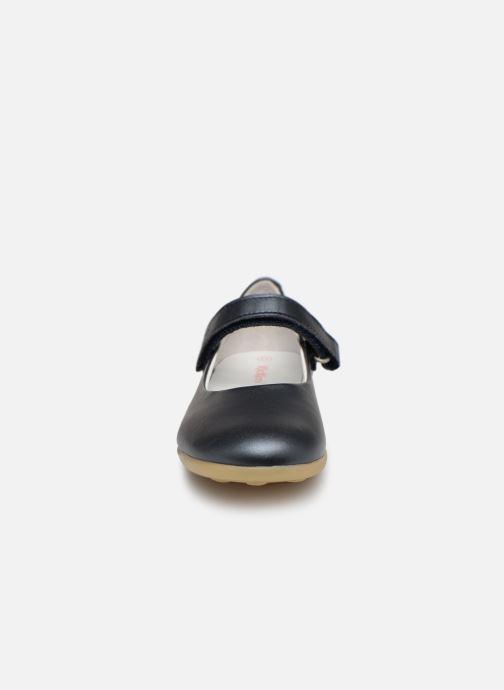 Ballerines Kickers Ambellie Bleu vue portées chaussures