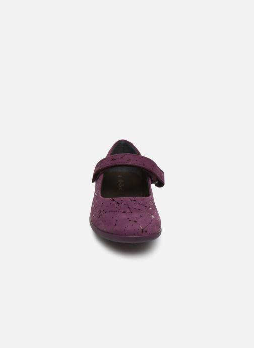 Ballerines Kickers Ambellie Bordeaux vue portées chaussures