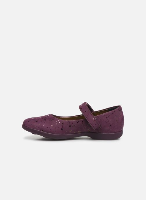 Ballerines Kickers Ambellie Bordeaux vue face