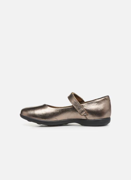 Bailarinas Kickers Ambellie Oro y bronce vista de frente