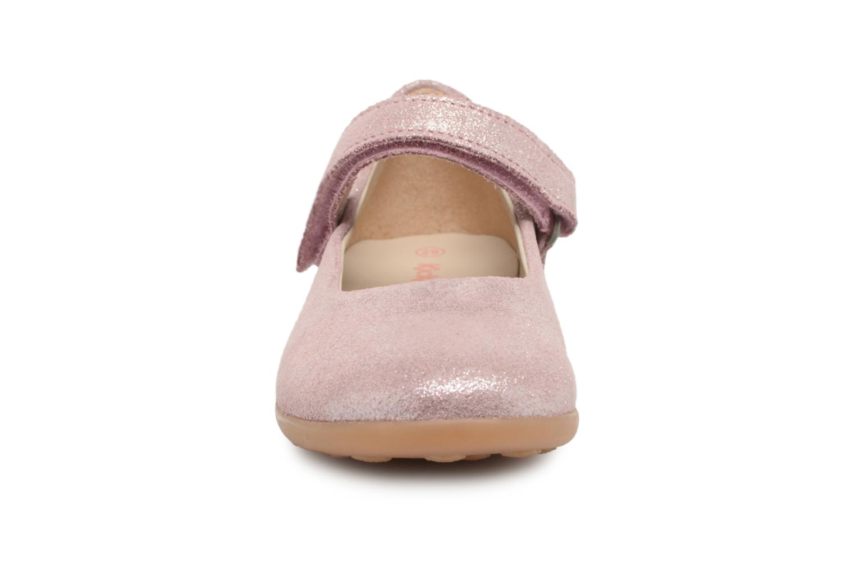 Ballerines Kickers Ambellie Rose vue portées chaussures