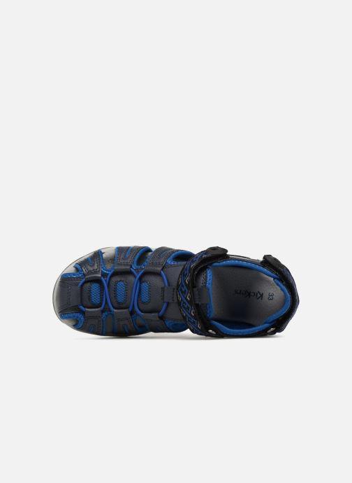 Sandalias Kickers Kawa Azul vista lateral izquierda
