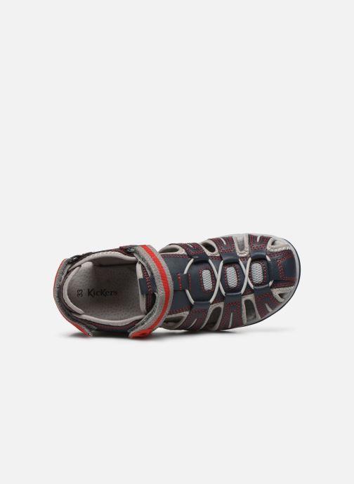 Sandalen Kickers Kawa blau ansicht von links