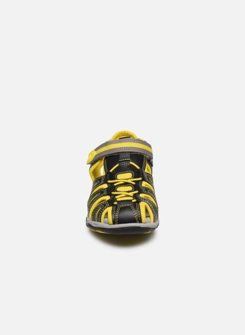 Sandales et nu-pieds Kickers Kawa Noir vue portées chaussures