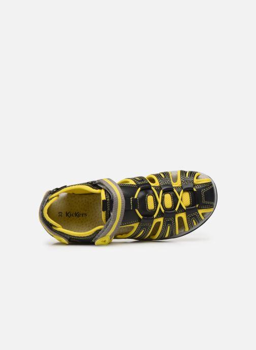 Sandales et nu-pieds Kickers Kawa Noir vue gauche