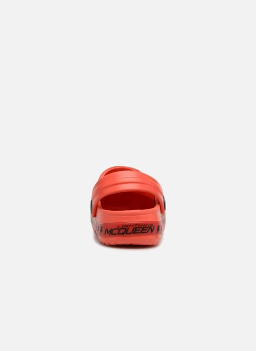 Sandales et nu-pieds Cars Dix Rouge vue droite