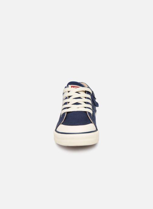 Baskets Levi's Alabama Lace Bleu vue portées chaussures
