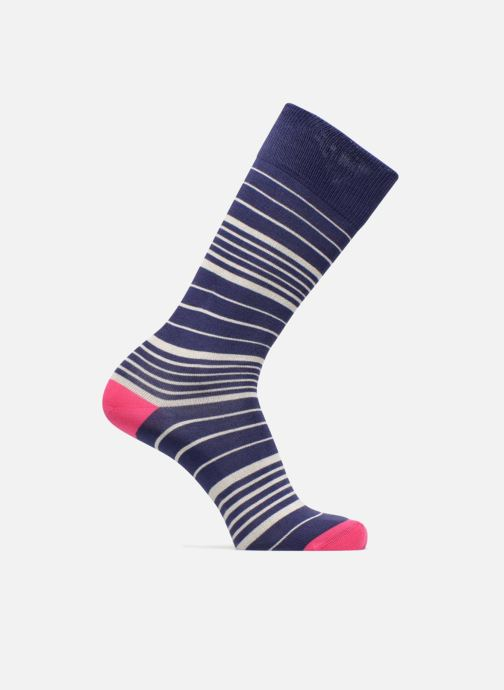 Sokken en panty's PS Paul Smith Chaussettes ECRU STRIPES Blauw detail
