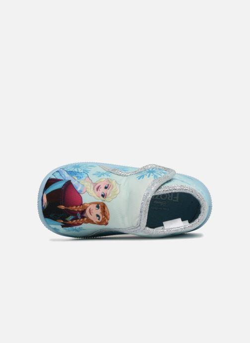Chaussons Frozen Sofa Bleu vue gauche