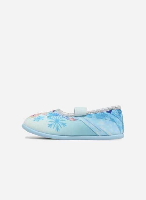 Pantuflas Frozen Scarlett Azul vista de frente