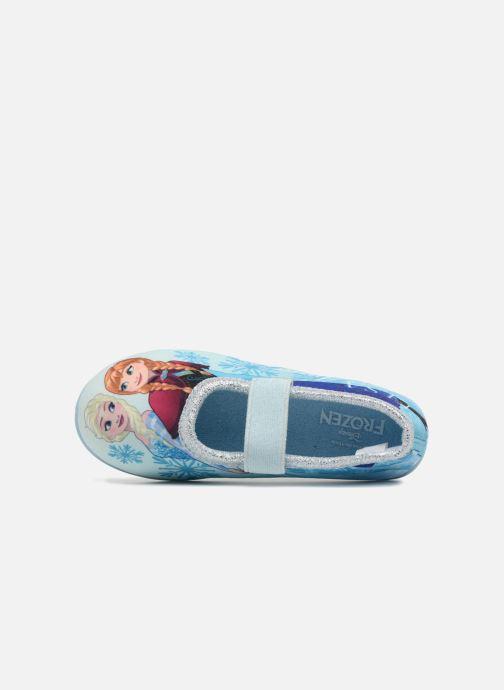 Chaussons Frozen Scarlett Bleu vue gauche