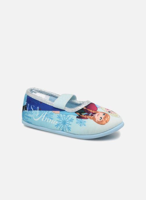 Pantuflas Frozen Scarlett Azul vista de detalle / par