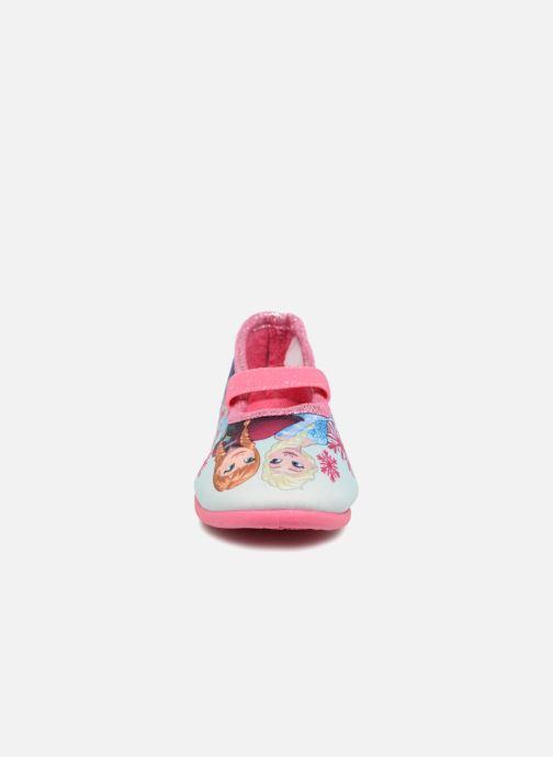 Chaussons Frozen Scarlett Rose vue portées chaussures
