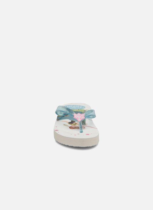 Tongs Frozen Rosazia Blanc vue portées chaussures