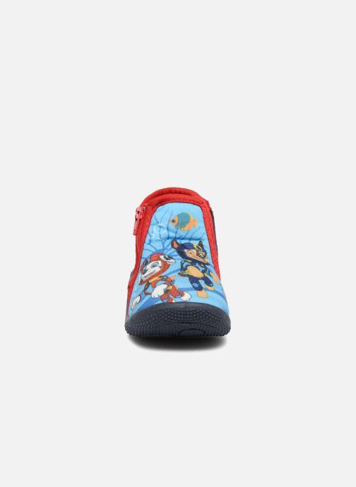Chaussons Pat Patrouille Soquette Bleu vue portées chaussures