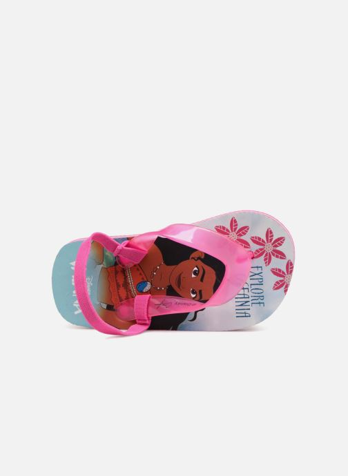 Flip flops Vaiana Didia Pink view from the left