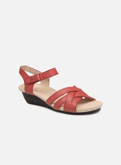 Sandaler TBS Easy Walk Macinah Rød detaljeret billede af skoene