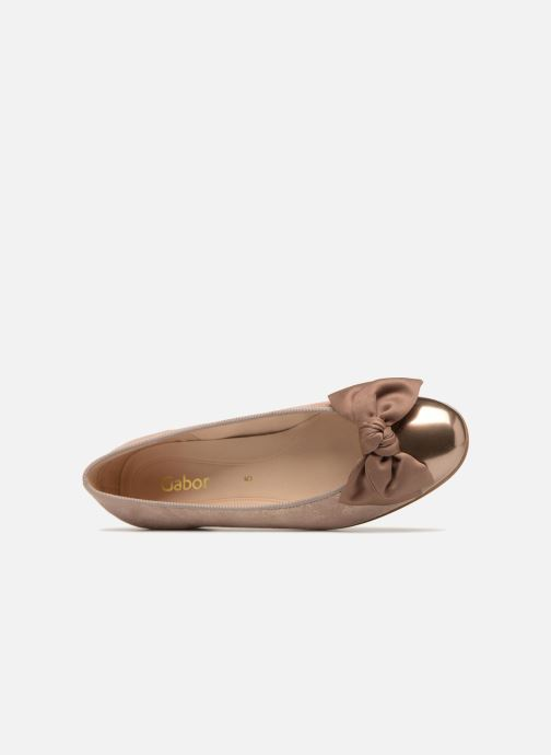 Ballet pumps Gabor Abby Pink view from the left