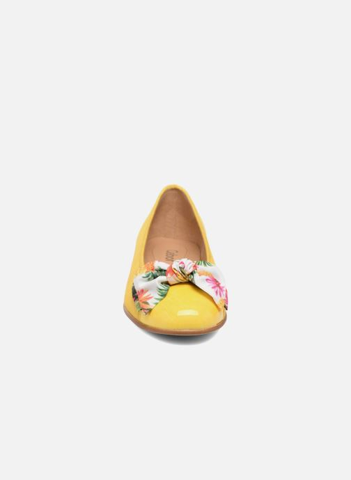 Ballerines Gabor Eleonore Jaune vue portées chaussures
