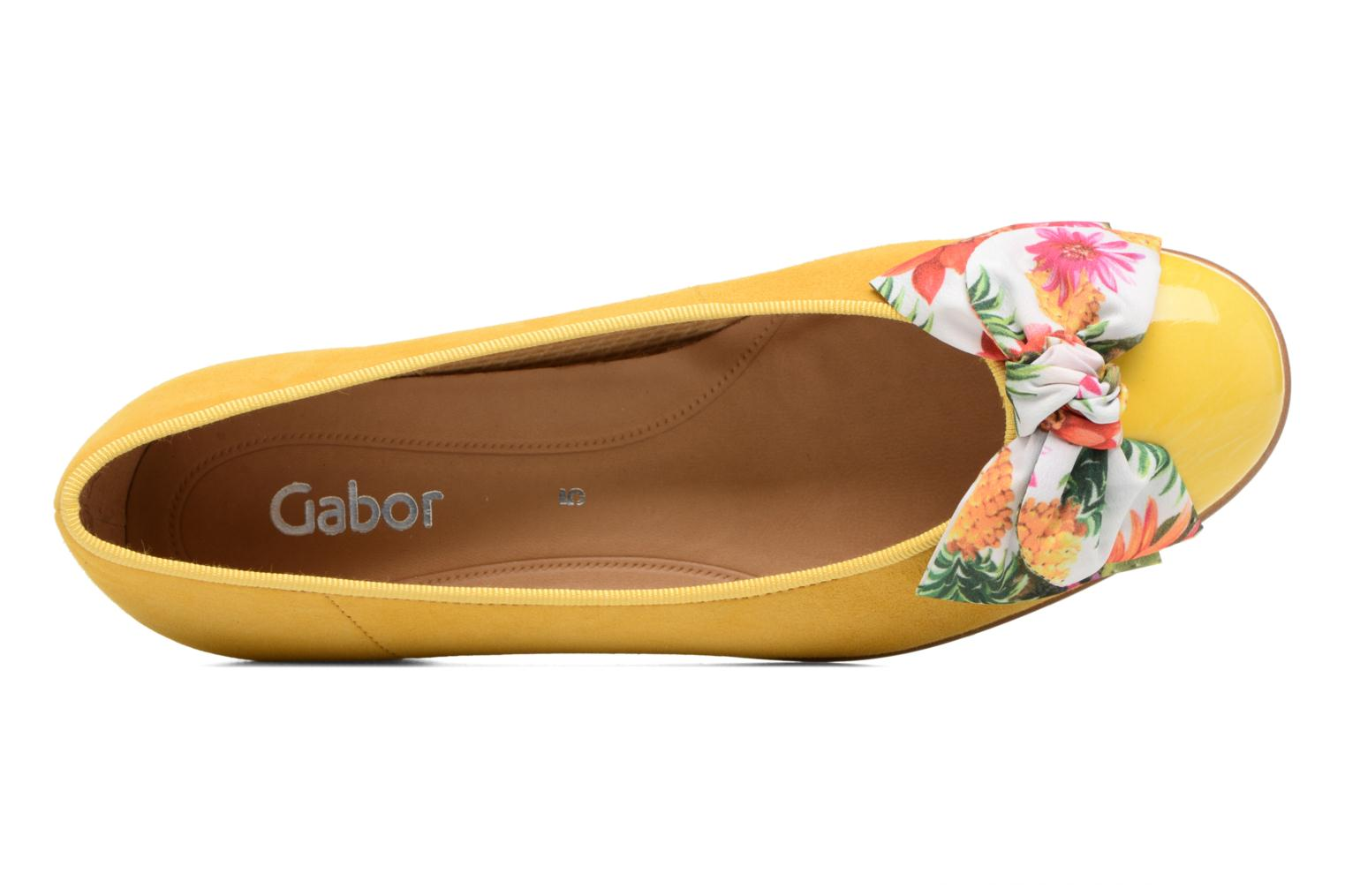 Ballet pumps Gabor Eleonore Yellow view from the left
