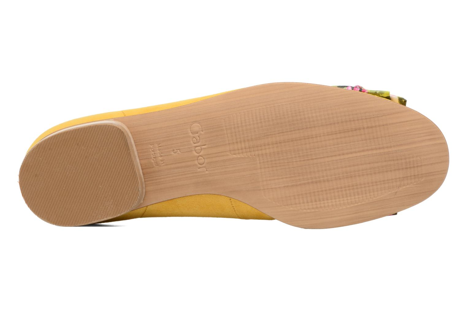 Ballet pumps Gabor Eleonore Yellow view from above