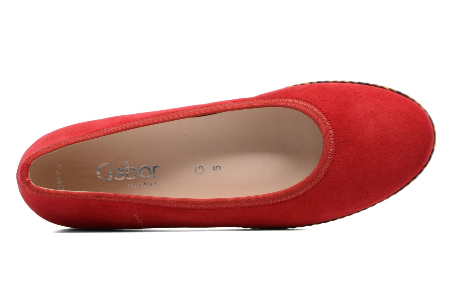 Ballet pumps Gabor Catania Red view from the left