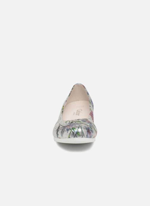 Ballerines Gabor Prata Argent vue portées chaussures