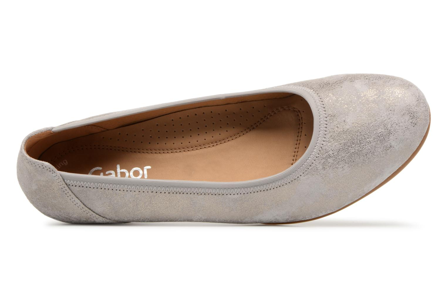 Ballet pumps Gabor Solari Silver view from the left