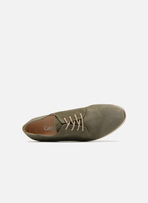 Zapatos con cordones Gabor Arabella Verde vista lateral izquierda