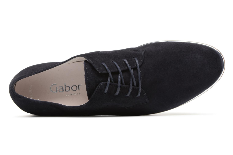Chaussures à lacets Gabor Arabella Bleu vue gauche