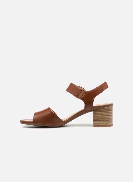 Sandales et nu-pieds Gabor Sandra Marron vue face