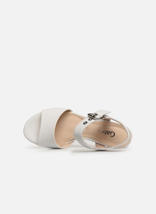 Sandales et nu-pieds Gabor Sandra Blanc vue gauche
