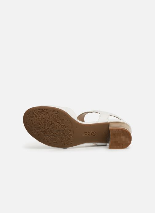 Sandales et nu-pieds Gabor Sandra Blanc vue haut