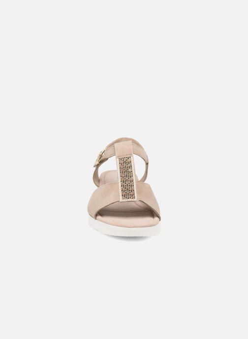 Sandales et nu-pieds Gabor Elorri Beige vue portées chaussures