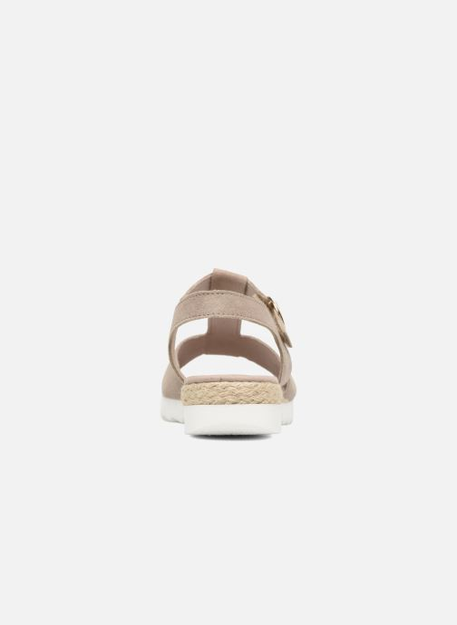 Sandales et nu-pieds Gabor Elorri Beige vue droite