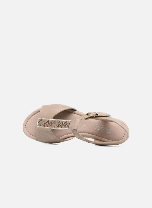 Sandales et nu-pieds Gabor Elorri Beige vue gauche