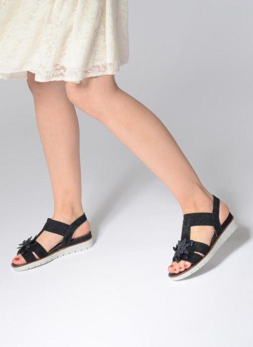Sandales et nu-pieds Gabor Heylie Bleu vue bas / vue portée sac