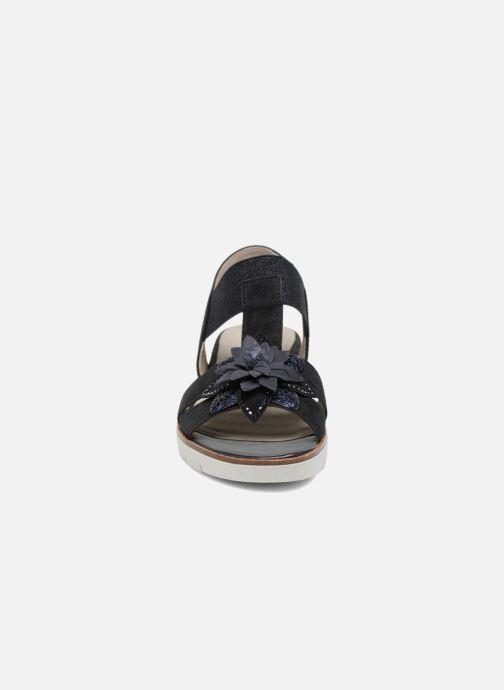Sandales et nu-pieds Gabor Heylie Bleu vue portées chaussures