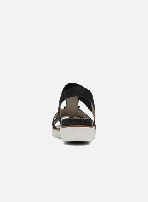 Sandales et nu-pieds Gabor Heylie Bleu vue droite