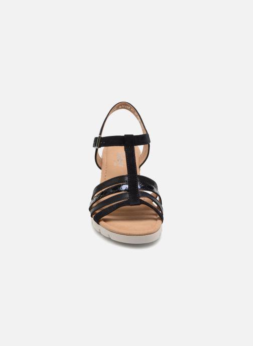Sandales et nu-pieds Gabor Isla Bleu vue portées chaussures