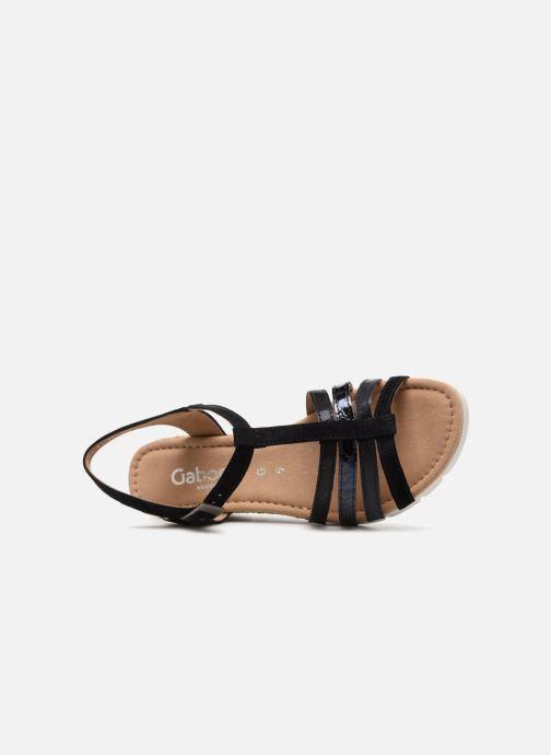 Sandales et nu-pieds Gabor Isla Bleu vue gauche